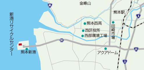 新港リサイクルセンター地図